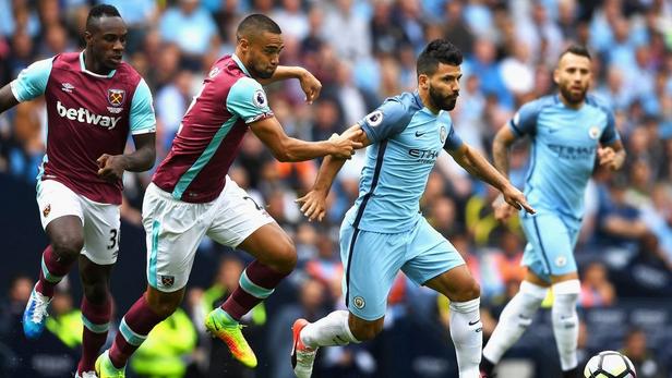 English premier league 2019, Manchester City VS West Ham ...